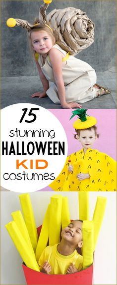 15 Kid Costumes. Stunning DIY costumes you can make at home for kids. Creative animal and food costumes. monster, mummy, robot, pineapple, snail, cereal, mac & cheese and bubble gum costumes the kids will love.
