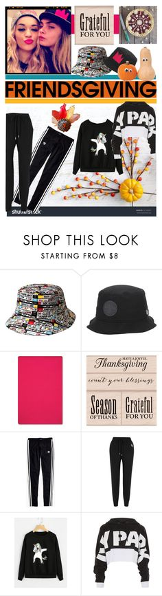 """Friendsgiving"" by cranetattoo ❤ liked on Polyvore featuring kangol, Converse, Improvements, Madewell, Markus Lupfer, Topshop, unicorn, friendsgiving and athleisure"