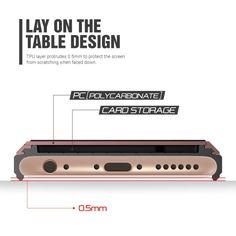 Verus Damda Slide iPhone 6 / 6S - Ruusukulta - Buymon