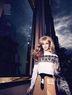 """Shopaholic"" Julia Jamin in Louis Vuitton Fall 2014 for L'Officiel Paris August 2014"
