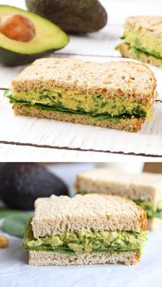 Smashed Chickpea Avocado Salad Sandwich is the perfect healthy lunch or dinner! This easy smashed chickpea sandwich can be eaten as a sandwich or served on greens, rice cakes, toast, or eaten as a dip … Salat Sandwich, Chickpea Sandwich, Veggie Sandwich, Chicken Mayo Sandwich, Lettuce Sandwich, Falafel Sandwich, Tomato Sandwich, Vegan Recipes, Veggie Food