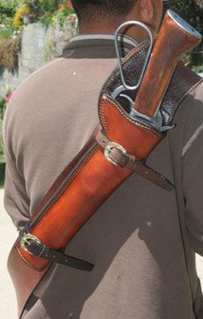 Leather Scabbard & lever action