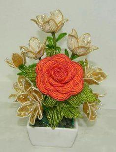 Beaded rose