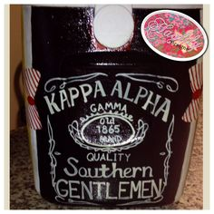 Kappa Alpha #painted #cooler with custom name #JackDaniels #tfm #HaylilyDesigns