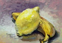 Yellow Fruit by Spencer Meagher Oil ~ 5 x 7