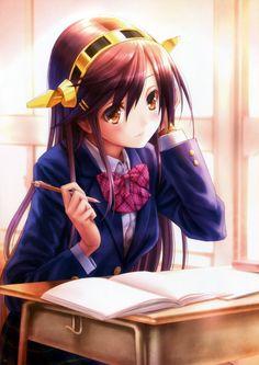 Kancolle: Haruna  in school uni