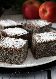 Makowiec Japoński – Smaki na talerzu Cheesecake, Muffin, Vegetarian, Baking, Breakfast, Drink, Sheet Cakes, Birthday, Cheesecakes