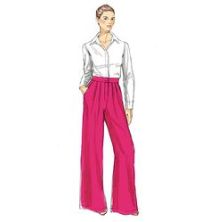 Very loose-fitting, slightly flared pants have button waistband, front pleats, side front pockets and mock, fly front zipper. Fashion Pants, Diy Fashion, Fashion Beauty, Fashion Dresses, Fashion Design, Beauty Illustration, Fashion Illustration Sketches, Fashion Sketches, Croquis Fashion