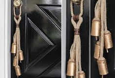 Jute Rope Door Hanger WIth 5 Bells - Our clever jute rope hanger with bells is a throwback to earlier days. Remember when a bell would announce someone's arrival through a shop door? Or when farmers used them to know where their animals were or even to call the help in from the fields for dinner? Why not add some vintage charm to your doors...with bells?!!
