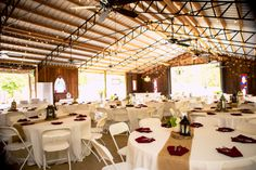 The charming reception space at Proctor Farms! ::Katy + Zach's beautiful, outdoor, southern wedding at Proctor Farms in Rome, Georgia:: @Courtney Kapas Proctor Farm #gorgeousvenue #romeweddings #georgiawedding #weddingphotographer #reception #barnwedding