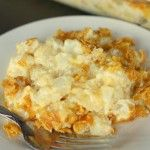 Funeral Potatoes Recipe - one of our favorite side dishes! #potatoes