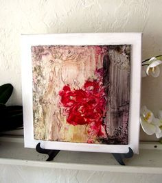 Modern Home Decor Abstract Floral Wall Desk Easel by StudioSabine, $75.00