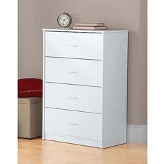 Mainstays 4-Drawer Chest, White