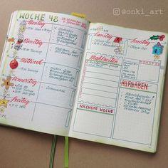 Bullet Journal Wochenübersicht 48
