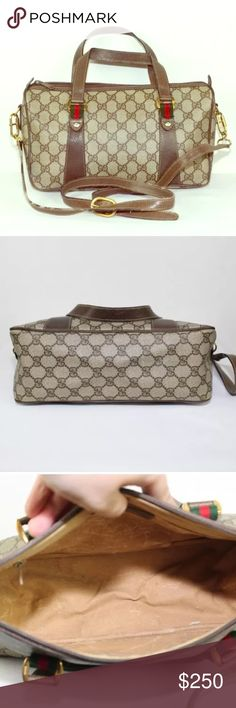 Authentic Gucci handbag Authentic vintage gucci boston bag in great  condition. genuine leather coated f137b605d9b7c