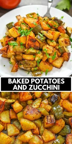 These Baked Potatoes and Zucchini are an easy one-tray side dish that's tasty and simple. You'll love the boost of flavor these vegetables get from the homemade sauce in this recipe. FOLLOW Cooktoria for more deliciousness! If you try my recipes - share photos with me, I ALWAYS check!