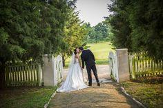Historical Carnton Plantation.  Franklin, TN  #southernbridemagazine #southernbride #southernwedding #brideandgroom #realwedding #plantationwedding #purple #wedding #plantation #oldsouth #southern