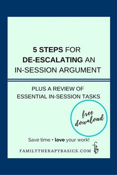 Step Plan for De-escalating an In-Session couple Argument Ever found yourself lost when an argument develops during therapy? Then this…:Ever found yourself lost when an argument develops during therapy? Family Therapy Activities, Counseling Activities, Counseling Worksheets, Calming Activities, Therapy Worksheets, Elementary Counseling, Group Counseling, Art Activities, Cognitive Behavioral Therapy