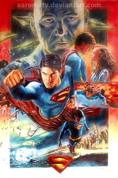 Superman Returns movie poster by aaronwty on DeviantArt
