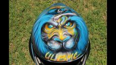 Lion and Girl TouringScreen Windshield Kawasaki Ninja ZX14 airbrush motorcycle