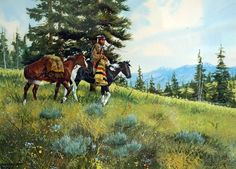 "Western Artist, Ron Stewart, Water Color titled ""Changing Camps"", #895"
