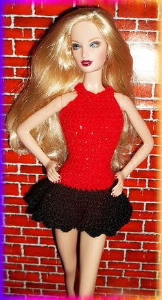 Go Red Barbie Crochet | Flickr - Photo Sharing!   46...3.30 qw