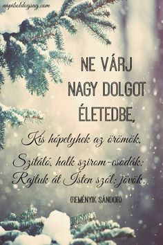 Reményik Sándor versrészlete az apró örömökről. A kép forrása: Napi Boldogság Positive Quotes, Motivational Quotes, Inspirational Quotes, Good Sentences, King Of My Heart, True Words, Famous Quotes, Christian Quotes, Picture Quotes