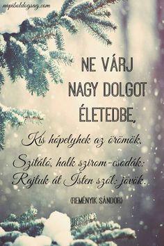 Reményik Sándor versrészlete az apró örömökről. A kép forrása: Napi Boldogság