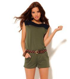 jumper Jumper Shorts, Rompers, Dresses, Fashion, Short Jumpsuit, Doilies, Spring Summer 2015, Plunging Neckline, Pants