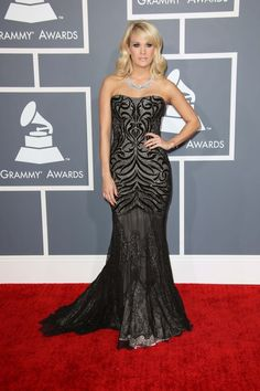 Carrie Underwood in Roberto Cavalli at the 2013 Grammys
