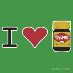 """""""I Love Vegemite"""" T-Shirts & Hoodies by Brother Adam 