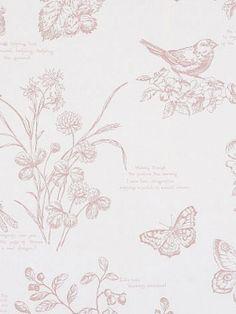 DecoratorsBest - Detail1 - LWP62214W - NATURE STUDY TOILE - BLOSSOM - Wallpaper - DecoratorsBest
