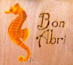 """""""L'hippocampe de Bon Abri"""" Acrylique sur bois"""