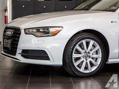 2015 Audi A6 3.0T Quattro Nav Glacier White Bluetooth HomeLink Rear Camera
