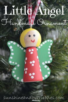Easy for kids of all ages, the Little Angel Ornaments are a fun handmade craft for a classroom, scout troop, Sunday school or church group.