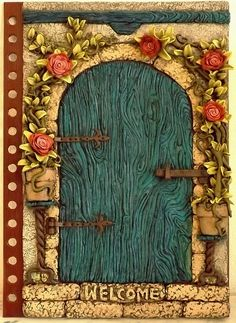 Polymer clay journal cover | *welcome* by SensiArts on DeviantArt