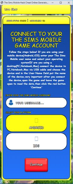 The Sims Mobile Hack - Online Generator Sims Freeplay Cheats, Cheat Engine, Private Server, Game Update, Test Card, Hacks, Hack Online, Mobile Game, The Simpsons