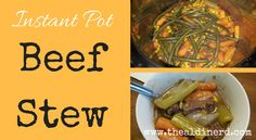 The ALDI Nerd Instant Pot Beef Stew | The ALDI Nerd Aldi Recipes, Black Eyed Peas, Stew, Instant Pot, Cooker, Grilling, Favorite Recipes, Yummy Food, Hard Boiled