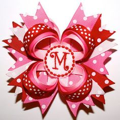 Valentine Bow Idea...I have to pin it now to make sure I do it by valentines.... sigh....