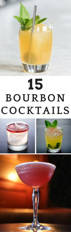 Bourbon drinks may lead to a purist telling you that adding even a drop of water will ruin the whiskey's flavor, but that's just one of the many myths surrounding the spirit. Try some of our favorite bourbon drinks today. Bourbon Cocktails, Whiskey Drinks, Bar Drinks, Cocktail Drinks, Cocktail Recipes, Alcoholic Drinks, Scotch Whiskey, Irish Whiskey, Bourbon Mixed Drinks
