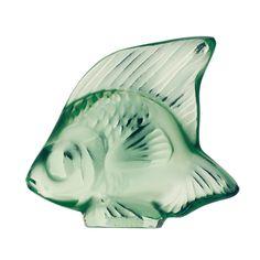 Lalique Fish Figure Light Green