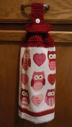 Free Pattern. crochet hanging towel .                              …
