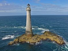 Lighthouse Skerryvore of Tiree (Inner Hebrides) Scotland Ocean Quilt, Beautiful Lights, View Image, Us Travel, Lighthouses, Cool Photos, Scenery, Around The Worlds, Explore