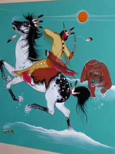 Rance Hood | Native American Horses, Native American Decor, Native American Pictures, Native American Artwork, Native American Artists, American Indian Art, Hunting Painting, Indian Horses, Southwestern Art