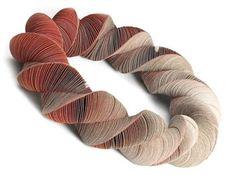 Amazing paper jewelry—artist, Nel Linssen❣ via Fashionarium