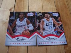 Chris Paul Byron Mullens 2013 14 Panini Prestige Los Angeles Clippers 2 Card Lot   eBay #ChrisPaul #ByronMullens #LosAngelesClippers #basketball