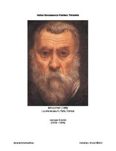 The Italian Renaissance painter Tintoretto is featured in this four page story edited for the classroom. $