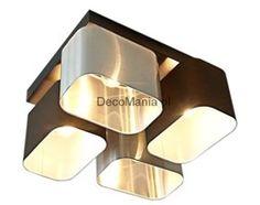 Lampa sufitowa - Wero Design - Plafon Merida - 006 Mix: brąz i srebrny