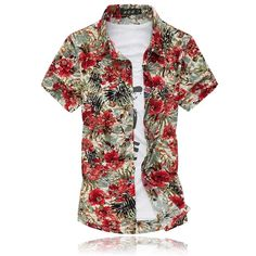 shirt casual Picture - More Detailed Picture about 14 Colors 2017 Fashion Mens Short Sleeve Silk Hawaiian Shirt Plus Size Summer Casual Floral Shirts Men Picture in Casual Shirts from Yiwu Trendy High Quality MutiColor Costume Fac Jane Austen, Casual Shirts For Men, Men Casual, Mode Shorts, Plus Size Summer, Trends, Floral Shorts, Fashion 2017, Fashion Men