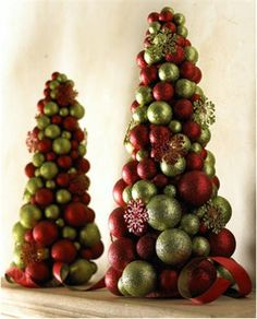 South Shore Decorating Blog: The Prettiest Christmas Trees & Ideas I've Ever Seen!  Use little pine cones to glue all over it!